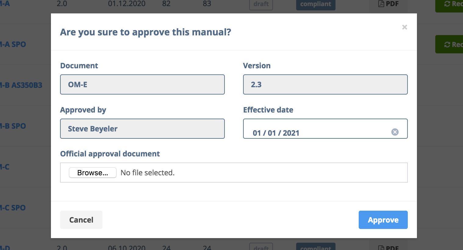 DocGen Document Approval Fields